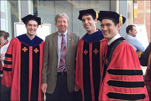 Dr. Alexander Kozen, Dr. Elliot Bartis, Professor Robert M. Briber, and Dr. Sean Fackler.