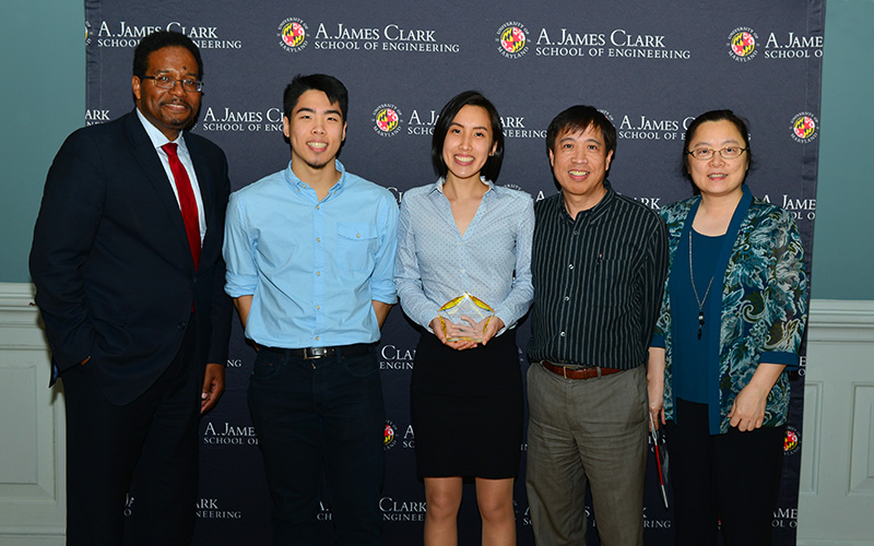 Dean Pines with MSE students at the Engineering Awards Ceremony