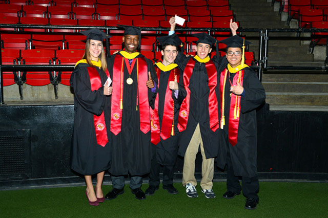 The undergraduate (B.S.) Class of December 2015 at commencement.