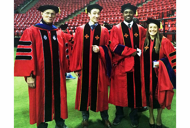 Prof. Phaneuf, Dr. Egan, Dr. Ticey and Dr. Nilsson.